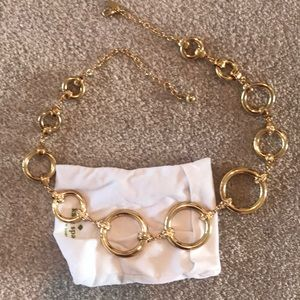 Kate spade goldtone large chain necklace